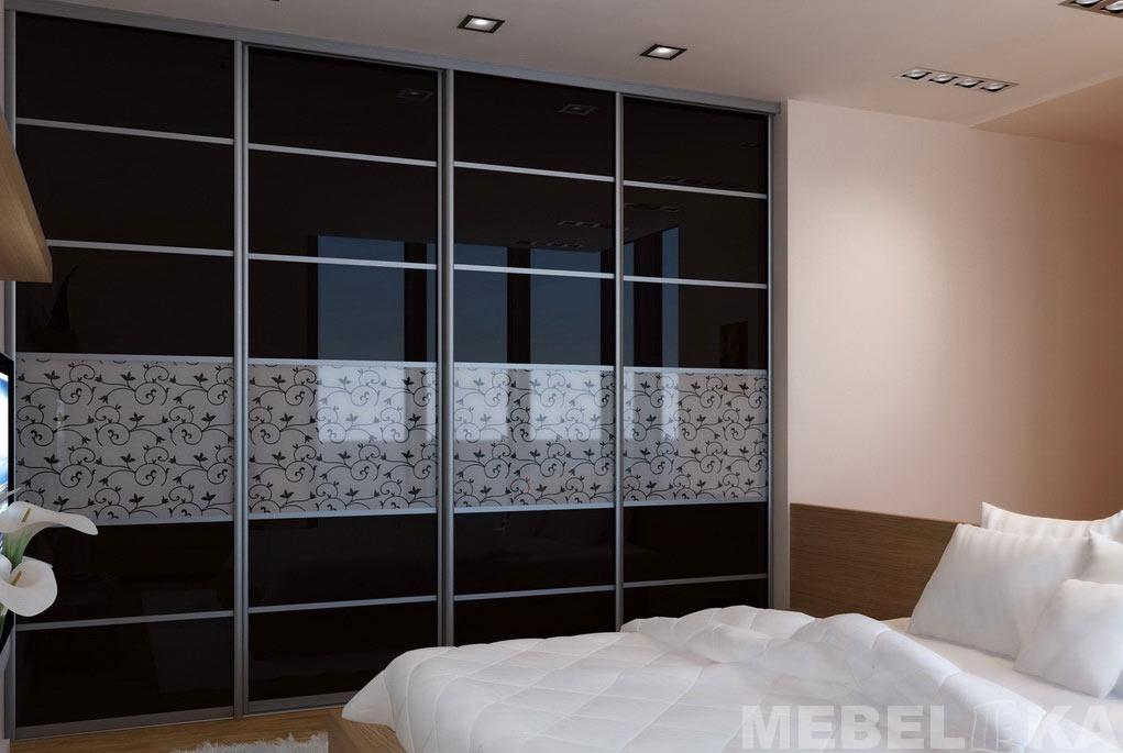 шкафы в спальню с рисунком фото размеры