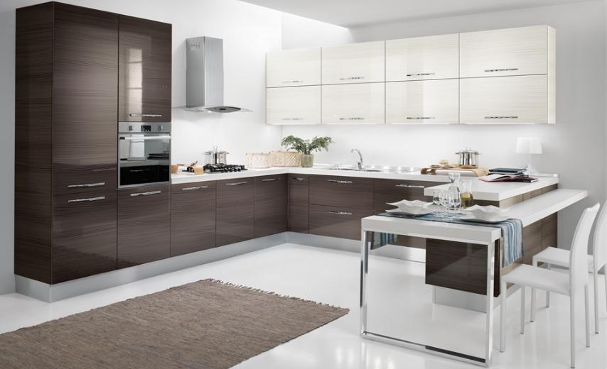 фото кухни г-образной